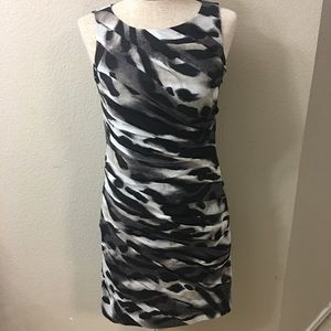 Ann Taylor Ruched Sheer Dress
